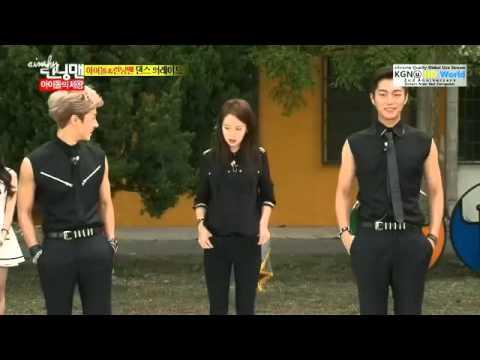 Running Man JiHyo with Beast Doojun, Gikwang