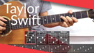 invisible string (Taylor Swift) Guitar Tutorial   Tab & Chords