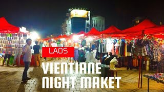 Night Market and Centre Point, Vientiane, Laos