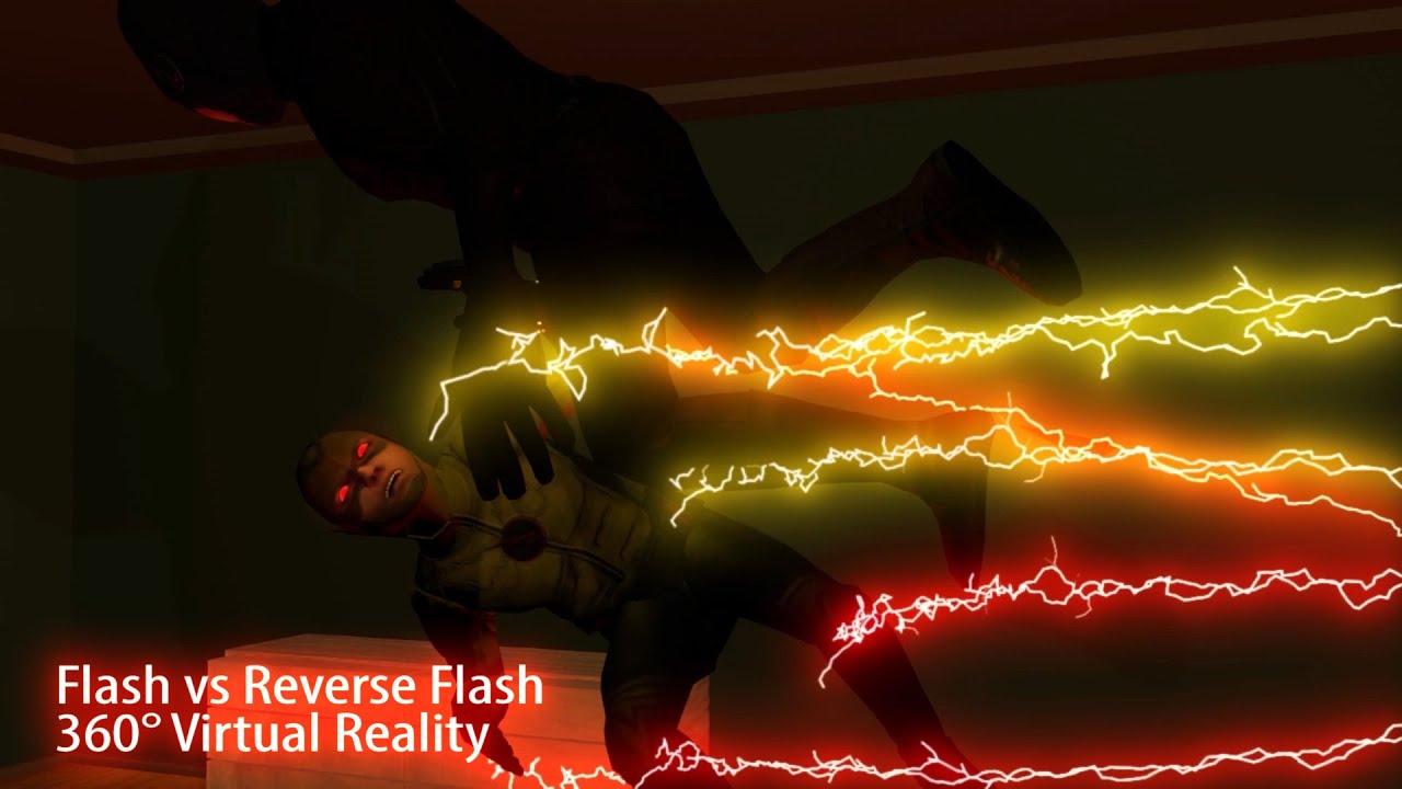 Flash vs Reverse Flash c4d VR Test