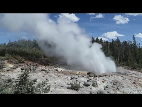 New geyser activity in Yellowstone National Park