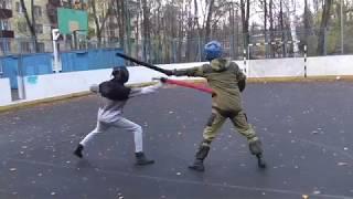 Тренировочный спарринг на тямбарах 7