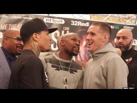 DRAMA!! FLOYD MAYWEATHER HEATED ARGUMENT W/ WALSH BROTHERS DURING DAVIS v WALSH HEAD TO HEAD