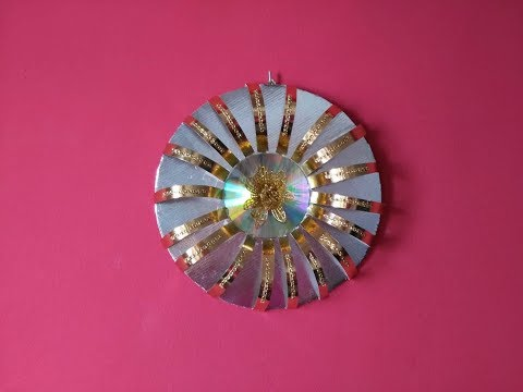DIY Craft Elegant Wall Decoration out of Golden Paper & Silver Cardboard