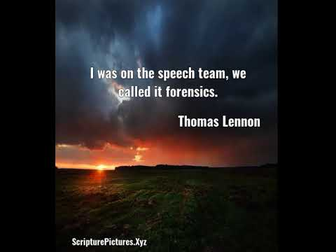 Thomas Lennon: I was on the speech team, we called it forensics....