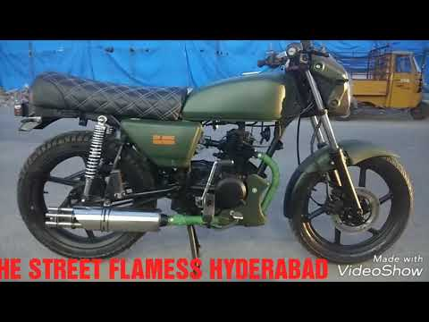 Modification done for CT 100 done at THE STREET FLAMESS HYDERABAD 9908786000