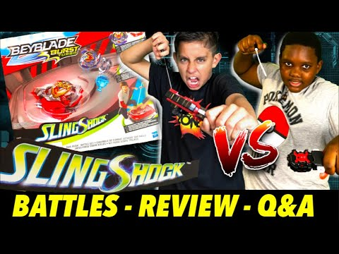 Beyblade SlingShock Rail Rush Battle Set Review & Burst Battles!