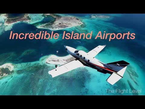 Winter Escape - Tropical Island Airports - Reefs with Aquamarine Water - Chill Music - MSFS2020 - 4K
