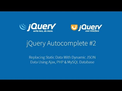 JQuery Autocomplete With Dynamic JSON Data From PHP, Ajax And MySQL Database #2