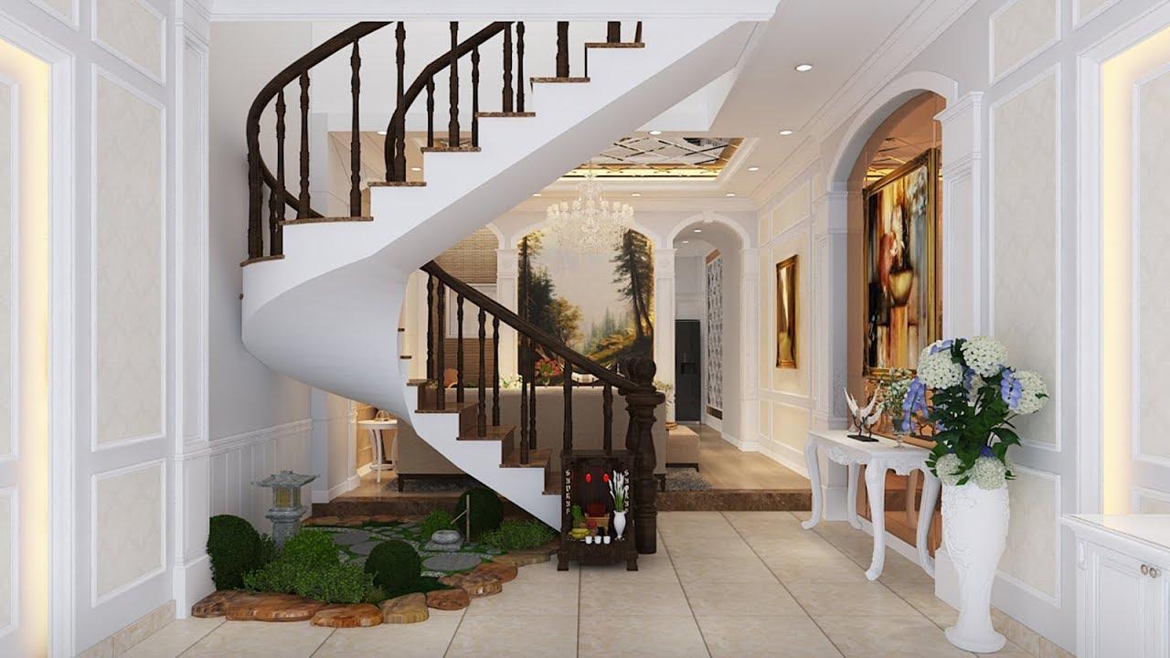 Thiết kế thi công nội thất nhà phố tân cổ điển