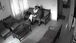 CCTV : Stupid couple at office waiting room