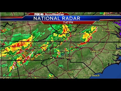 Tracking strong thunderstorms near Charlotte