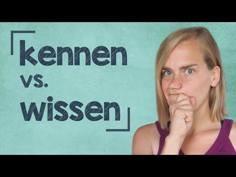 German Lesson (74)- kennen vs. wissen | sich auskennen - A2/B1