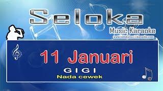 11 Januari - Gigi - Nada Cewek - Karaoke midi keyboard cover | lirik lagu tanpa vokal