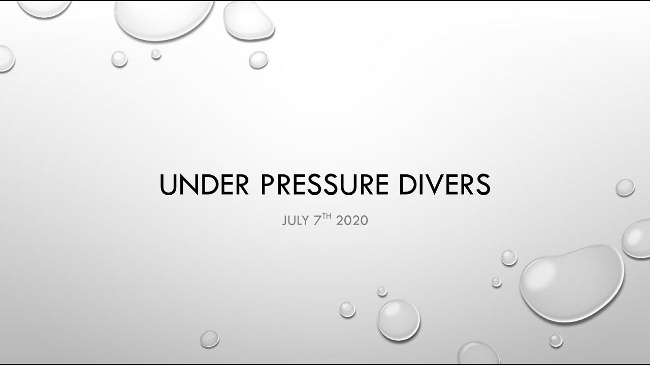 UP Divers Club Meeting via Zoom, July 7, 2020