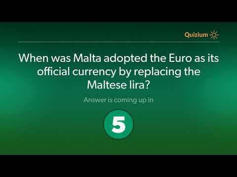 When was Malta adopted the Euro as its official currency by replacing the Maltese lira?   Malta Quiz