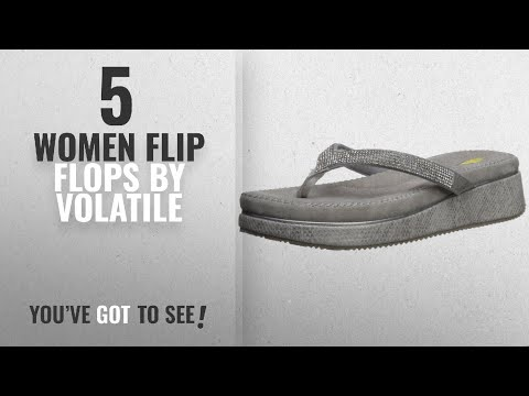 Top 5 Volatile Women Flip Flops [2018]: Volatile Women's Aniya Flip-Flop, Silver, 9 B US