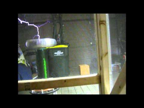 Animus Vox  The Glitch Mob on Musical Tesla Coil with faraday cage