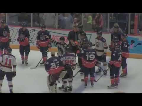VIDEO: Rivermen coach Trudel clash with Macon coach Kerr