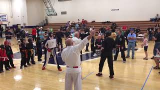 Hayden Cogdell's 1st Fight at The Middle Tennessee Open Karate Games 2018 5-0 win