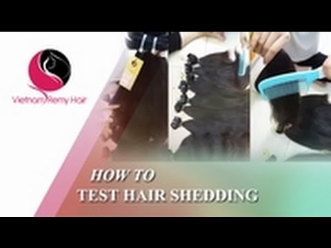 How to test hair shedding ?