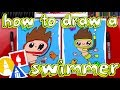 How To Draw A Cartoon Swimmer
