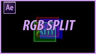 Comment Créer un RVB split dans Adobe After Effects CC (2018)