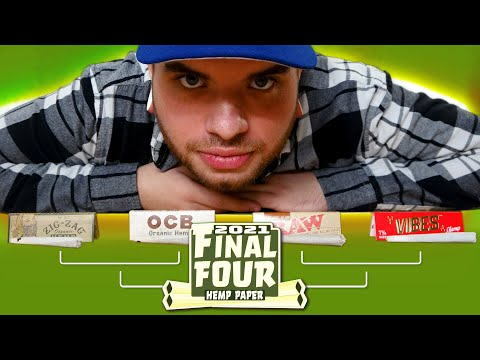 The Hemp Rolling Paper Final Four – Raw, OCB, Zig Zag, and Vibes