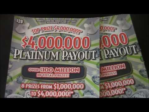 $4 MILLI0N  PLATINUM PAYOUT NC EDUCATION LOTTERY