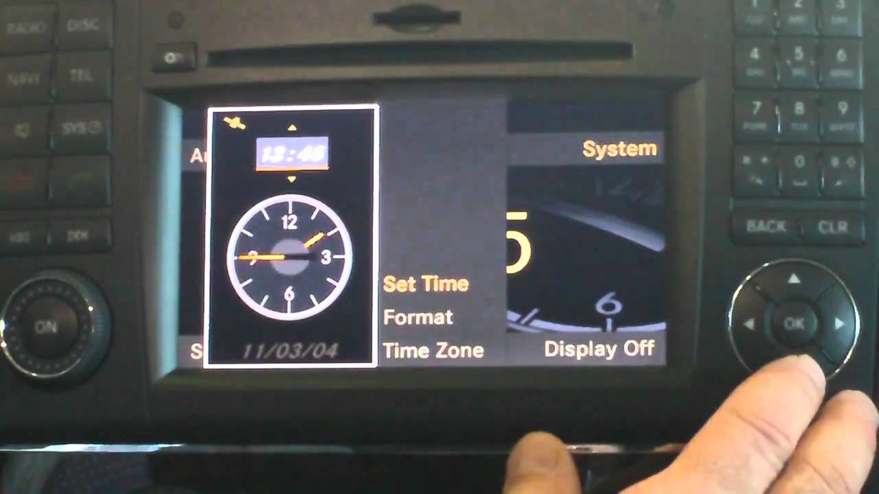 How To Change The Time On A Mercedes Benz Ml350 Youtube
