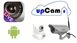 P2PCamLive + upCam IP Kamera -- App Einrichtung auf Android