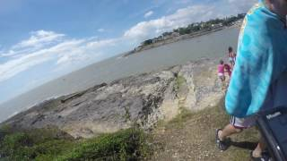 Chemin du douanier en vtt à Vaux sur mer