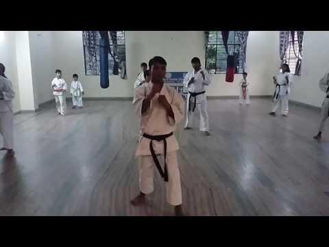 Dojo practice with Sensei Rajkumar Chauhan