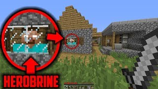 HEROBRINE finally TALKED to me.... (Herobrine Sighting in Minecraft)