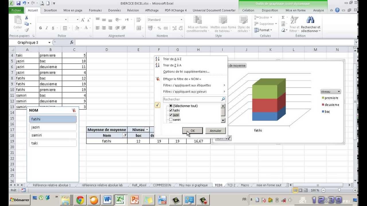 Tableau Croise Dynamique Excel 2010 Darija Youtube
