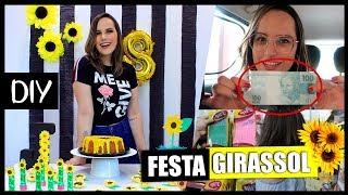 FESTA DE ANIVERSÁRIO GIRASSOL COM APENAS 100 REAIS | #FestaDIYCasa