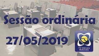 Sessão ordinária 27/05/2019