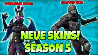 NEUE SKINS AUS SEASON 5 | Weiblicher Raven, Roadtrip Skin, Samurai Skins | Fortnite Battle Royale