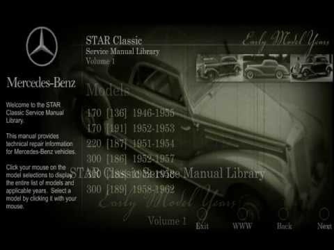 mercedes benz star classic service manual library volume 1 - youtube