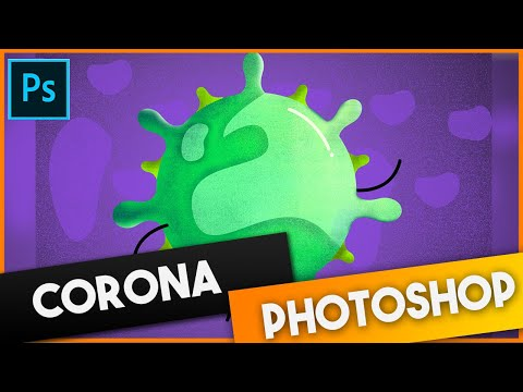 Corona Photoshop Art | Speed Art