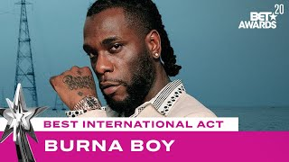 Naomi Campbell Presents Burna Boy With The Best International Act Award! | BET Awards 20