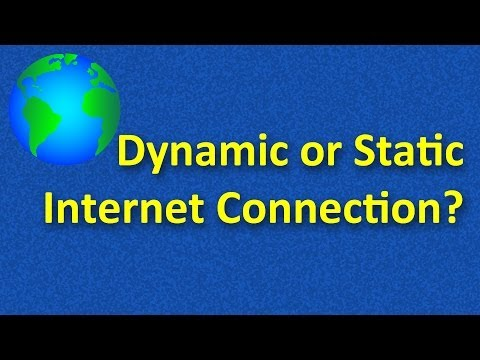 Determine if Your Connection is Dynamic or Static