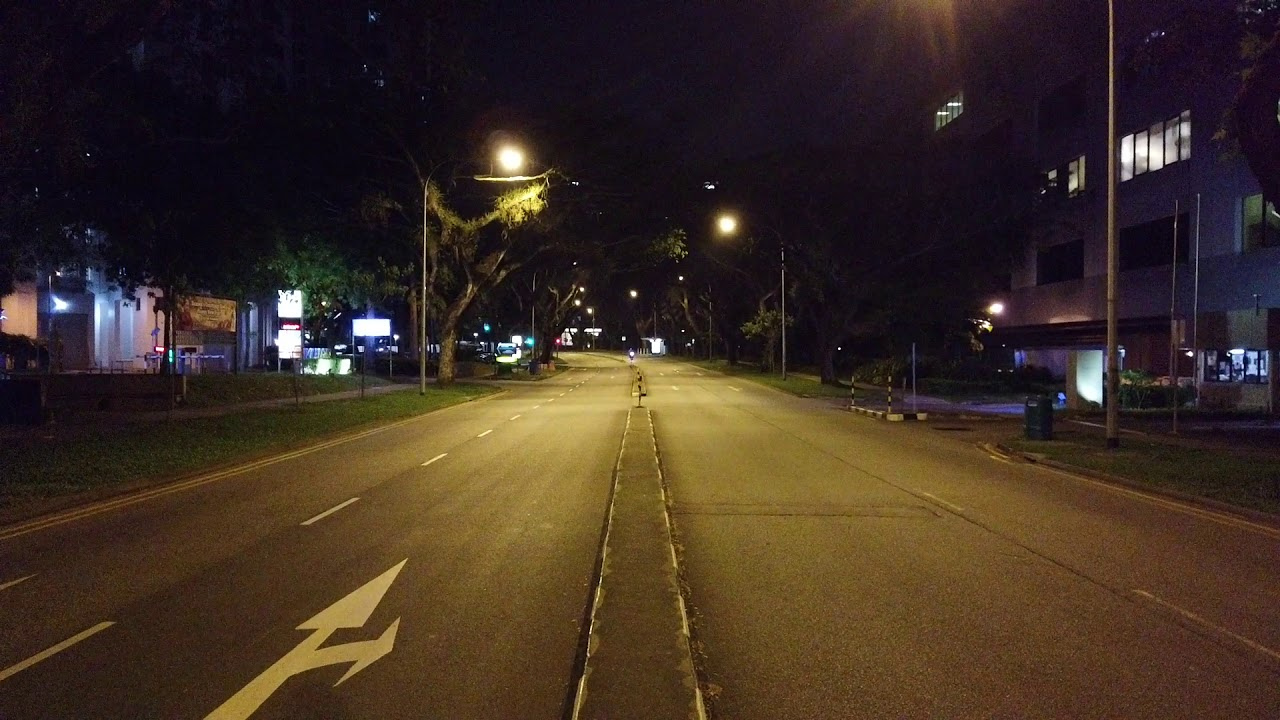 Snapshot 1 / Standing in the middle of Depot Road past midnight / Singapore