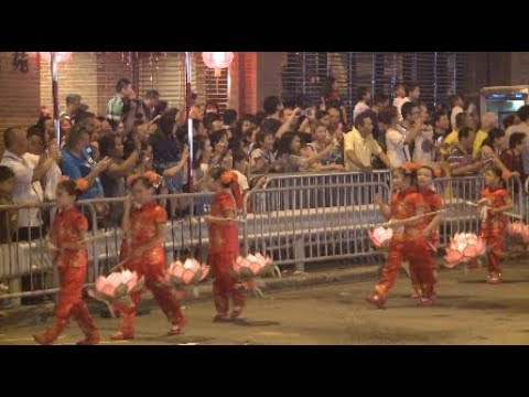 Fire Dragon Dance Performed to Celebrate Mid Autumn Festival in Hong Kong