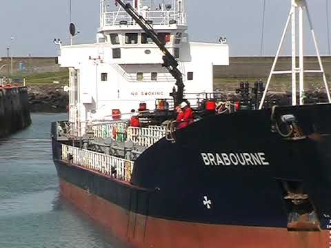 Brabourne oil tanker at Fishguard Harbour