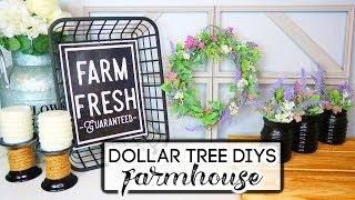 DOLLAR TREE FARMHOUSE DIYS | 5 EASY IDEAS