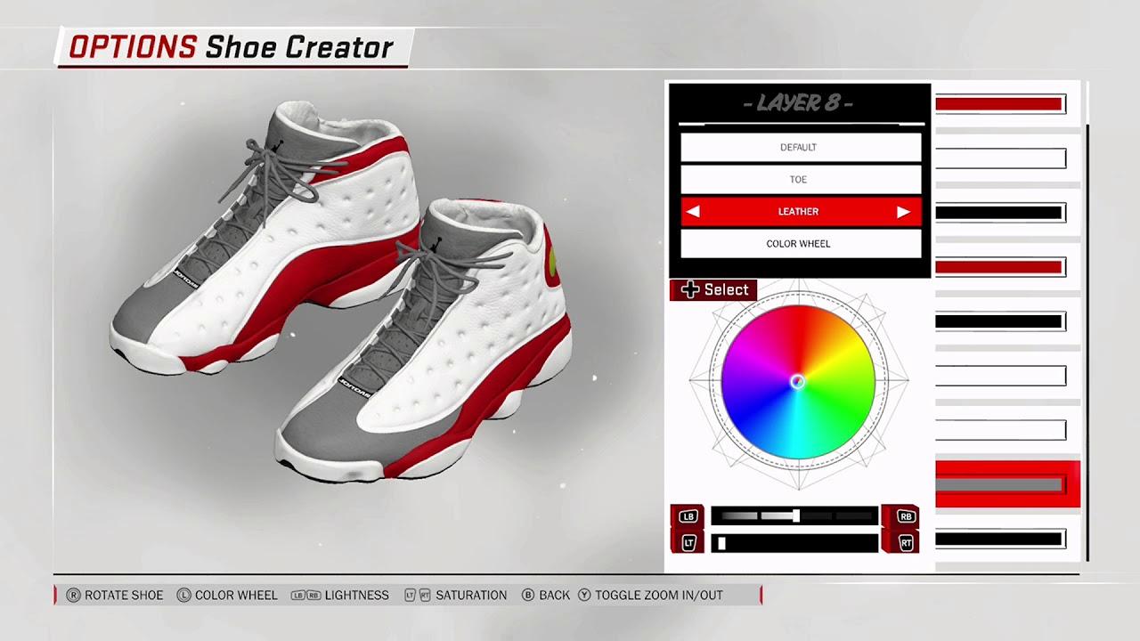NBA 2K18 Shoe Creator - Air Jordan 13