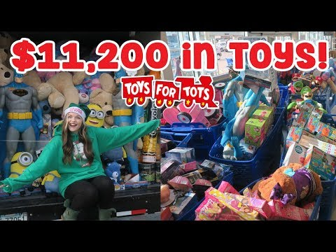 $11,200 Raised & Spent on Toys! | Toys for Tots Shopping & Delivery ♡ FOR DA KIDS!