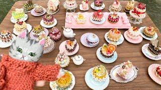 ビーズマニアのガトードゥビジュウというキットです☆テグス編みケーキのビーズモチーフ☆ 以前作ったコレクションです☆ #ビーズマニア#ビー...