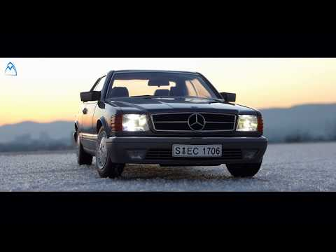 1:18 AUTOArt Classic Car Review SEC Mercedes Benz Scale Model Toy DieCast Original Lights